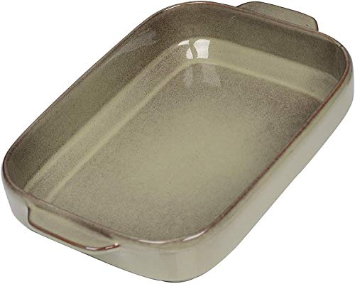 vancasso, Series EMMA,Rectangular Baking Pan,Large Stoneware Casserole Dish with Double Handle, Ovenware Bakeware Set Lasagne,Pies,Casserole,Tapas,Dessert and Coasted Meat(13x8.25x2.35Inch)