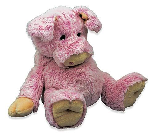 Inware 6427 - Kuscheltier Schwein Porgy, rosa, 25 cm, mit Bauch und Ringelschwänzchen, Schmusetier, Plüschtier