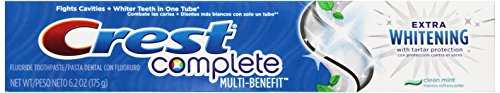 Crest Complete Multi-Benefit Extra Whitening Toothpaste, Clean Mint, 6.2 ounce