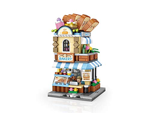 Xpixel Mini Avenue Blocks - Panadería - Juguete de Construcción - Bloques Tamaño Mini - Construye tu Propia Mini Avenida