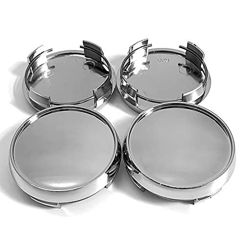 Tapacubos 4pcs / lot en blanco 65 mm TE37 Tapa de la rueda compatible con TE37 CE28 RUEDA DE RUEDA CENTRO CUBIERTA COPUSTRACIÓN CUBIERTA AJUSTE 56MM Etiqueta engomada del logotipo ( Color : Silver )