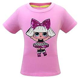 Dgfstm Bébé Fille Paillettes confettis Pop Petites Soeurs T-Shirts