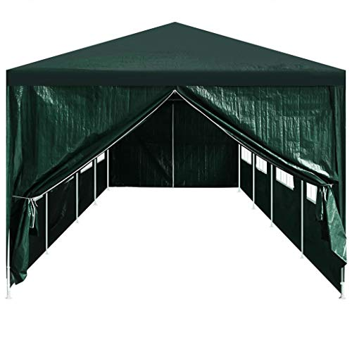 Festnight 2 pz Tenda da Giardino Pieghevole Impermeabile in PE Gazebo per Feste Tour Picnic Ingresso per Tendostruttura con Cerniera 295 x 195 cm