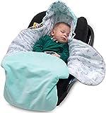 Manta para Asiento de automóvil - Algodón y Terciopelo Cozy Travel Swaddle para Asientos de niños, carritos, capazo, portabebés, Cochecito - Funda Suave y Saco de Dormir con Capucha