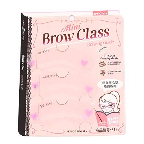 3 Styles ABS en plastique de toilettage gabarit de maquillage façonner bricolage beauté sourcils modèle gabarits constituent des outils accessoires - Transparent