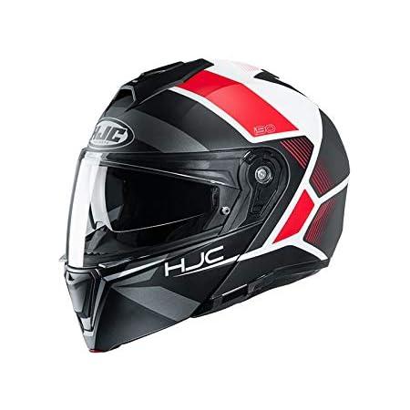Hjc Helmets Herren Nc Helmet Schwarz Weiss Rot L Auto