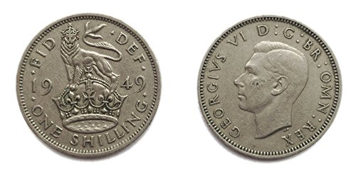 Münzen für Sammler - Circulated 1949 englischen Shilling Coin / Großbritannien
