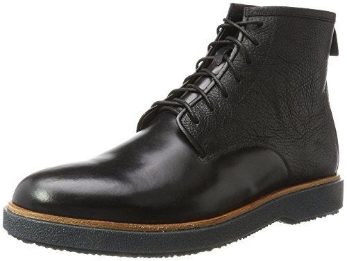 Clarks Herren Modur Hi Klassische Stiefel, Schwarz (Black Leather), 42 EU