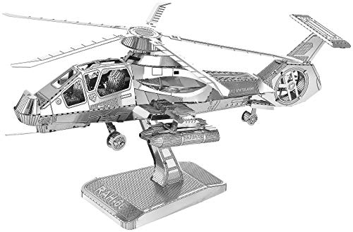 Playtastic Puzzle: 3D-Bausatz Helikopter aus Metall im Maßstab 1:150, 41-teilig (Metallbausätze)