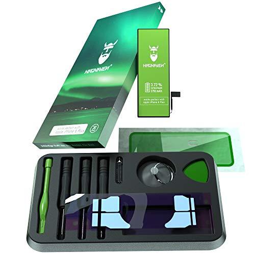 Hagnaven Batteria ai polimeri di litio per Apple iPhone 8 Plus   con kit di montaggio   2791 mAh   Batteria sostitutiva PIÙ POTENTE   CELLE DI ALTISSIMA QUALITÀ   MIGLIORE DURATA