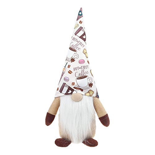 Coffee Cute Dwarf Plush Toy Faceless Doll Party Decoration Ornaments