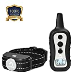 PATPET Dog Training Collar with Remote -W/3 Training Modes, Beep, Vibration & Shock, up to 1000' Remote Range, Water Resistant No Harm Dog Shock Collar for Small Medium Large Dogs, Black