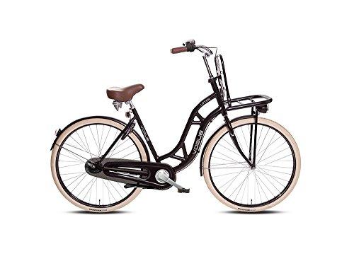 Bicicletta olandese da donna, 3 marce, 28', nero