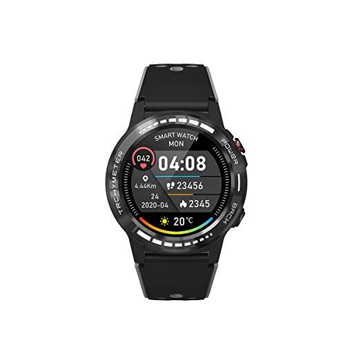 PRIXTON SW37 Smartwatch für Herren und Damen, mit GPS, Multisport-Modus, Pulsmesser, SIM-Karte, Anrufe mit Sprachassistent, Siri