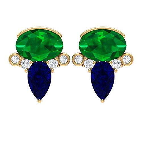 Rosec Jewels 10k Oro amarillo Runde Diamond