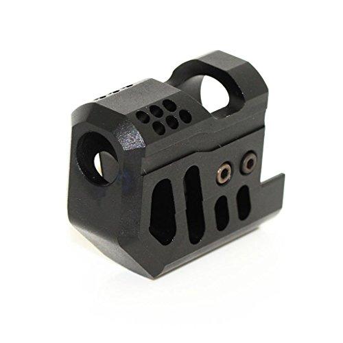 Airsoft Softair Ausrüstung Front Kit Kompensator für KSC / Bell M9-Serie GBB Pistole Schwarz