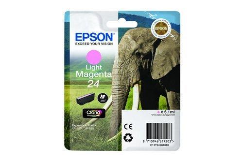 Original Epson C13T24264010 / 24, für Expression Photo XP-860 Premium Drucker-Patrone, Magenta hell, 5,1 ml