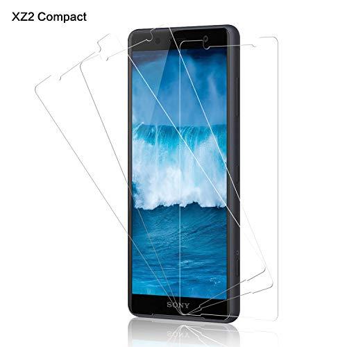 Schutzfolie für Sony Xperia XZ2 Compact Panzerglas [3 Stück], 9H Festigkeit Panzerglasfolie Bildschirmschutz für XZ2 Compact, Anti-Kratzen Schutzglas, Ultra Klar, Bläschenfrei, XZ2 Compact Bildschirmschutzfolie