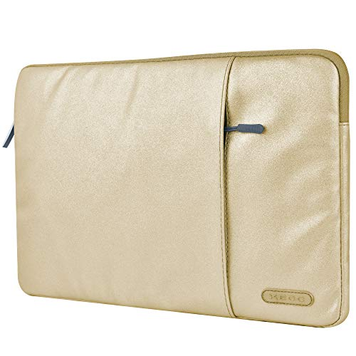 KECC 15-15.6' Sleeve for MacBook Pro 15' A1990/A1707/A1398/A1286 Laptop Protective Case Canvas Bag with Pocket for Chromebook, Acer Notebook (Gold Glitter)