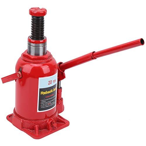 Gato de botella hidráulico de aire neumático, 20 toneladas (40.000 lb) de capacidad, rojo