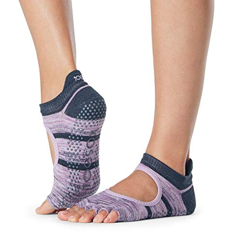 Toesox Half Toe Bellarina Grip for Barre, Pilates and Yoga (Medium, Wondrous)