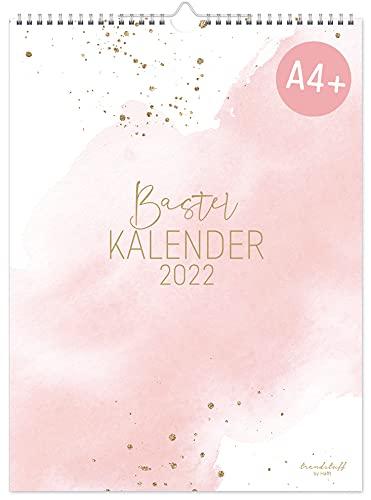 A4+ Bastelkalender 2022 [Blush] von Trendstuff by Häfft | Fotokalender, DIY-Kalender, Kreativ-Kalender, Geburtstags-Kalender zum Selbstgestalten | nachhaltig & klimaneutral