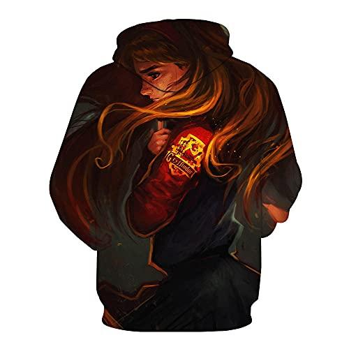 Harry Potter Impresión 1357d Sudadera con Capucha de animecon Capucha Sudaderas Pullover Streetwear con Capucha Casual Suave Cosplay Ropa Casual de Moda