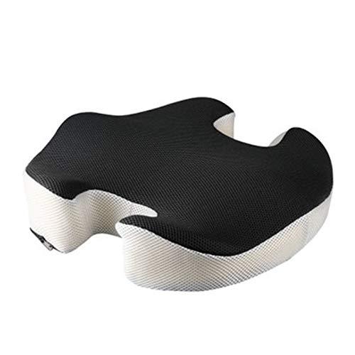 Lenta recuperación de la memoria cojín de espuma, cómodo descompresión Relax nalgas con cremallera oculto perfecto for silla de oficina y sillas de ruedas no se desliza incluso en mármol pulido Pisos