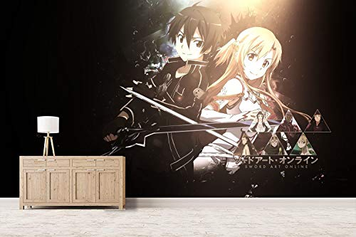 CZL Fototapete 3D Effekt Tapeten Sword Art Online Anime Motivtapeten Wandtapete Wandbild Wand Dekoration Für Schulen, Hotels, Wohnzimmer, Schlafzimmer, Restaurants Und Ktv-Bars