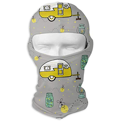 MKDOQS Campers Fireflies Full Face Mask Sun Dust Wind Protection Durable Breathable Seamless Face Mask Bandana