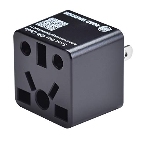 ROAD WARRIOR US Plug Adapter EU/UK/China/AUS/India/Brazil to USA Does not Convert Voltage Designed in Japan RW111BK-US Maine