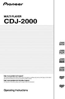 Pioneer CDJ-2000 CD Player Owners Instruction Manual Reprint [Plastic Comb]