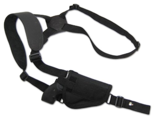 Barsony Cross Harness Vertical Shoulder Holster for Ruger LCR 38, 357 Right