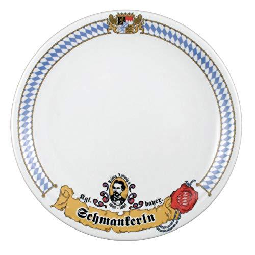 Seltmann Weiden 001.449684 Compact Bayern Speiseteller Rund, Blau/Weiß/Gelb/Rot