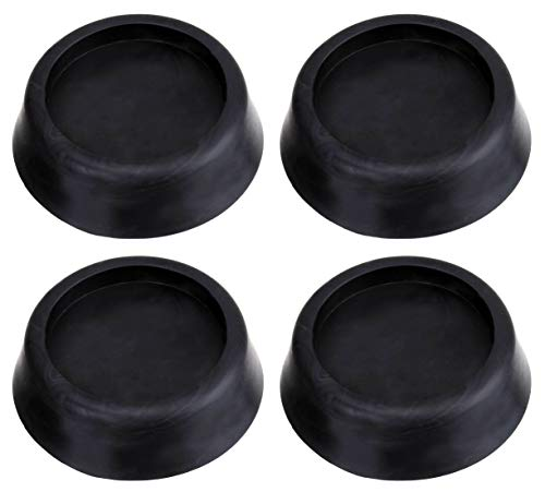 Waschmaschinen Unterlage Schwingungsdämpfer Vibrationsdämpfer Antivibrationsmatte - Gummi Füße für Waschmaschine & Trockner Waschmaschinenzubehör Weiß Schwarz 4 Stück