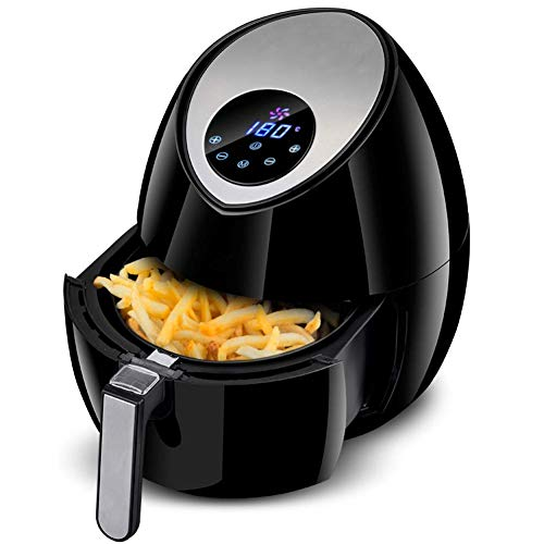 Check Out This 3.2L Led display Stainless steel Deep fryer 1400W -Large Intelligent No fumes Air fry...