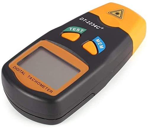 WGZ Handheld LCD Digital Mini no Contacto Foto Tacómetro RPM Velocidad Medición Medidor Velocímetro 2.5~99999 RPM Herramienta Pantalla Digital