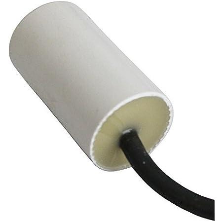AERZETIX - Condensateur Permanent de Travail pour Moteur - 6µF 450V - ⌀30/53mm - à câble - Corps en Plastique Cylindrique Blanc - C10203
