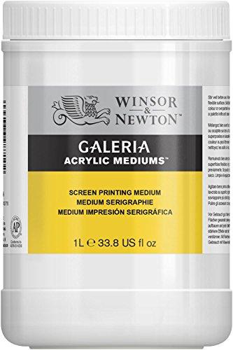 Winsor & Newton 3054928 Galeria Siebdruck-Medium, 1 Liter Topf, verbessert Farbfluss und verlangsamt die Trocknungszeit