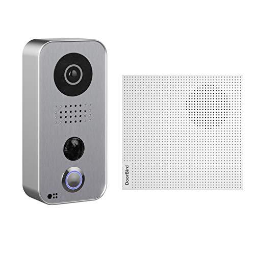 DoorBird D101S Strato Silver Edition - Videoportero inalámbrico con Placa Frontal de Acero Inoxidable, Control de aplicación