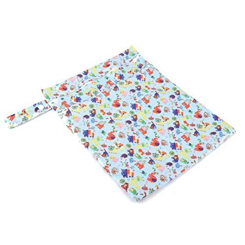 DAUERHAFT Bolsa de pañales de Papel Impermeable al Aire Libre, Bolsa de pañales para bebés, para niñas y niños para Viajes, Uso Diario, estacionamiento(Blue Animal)