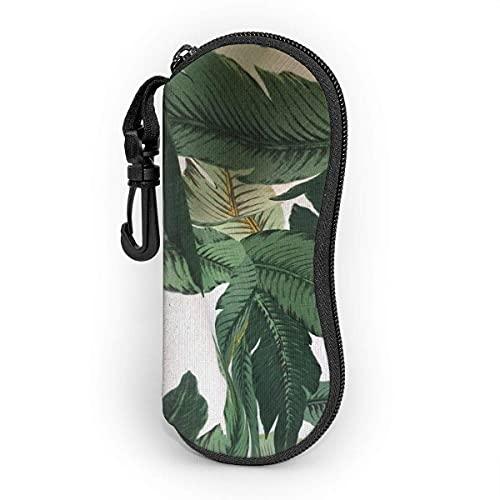 shopee-t Palm Leaves Estuche blando para gafas de sol Ultra Light Portable Neoprene Estuche para anteojos