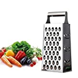 Householdhl Cheese Grater & Shredder - Stainless Steel - Large Grating Surface with Razor Sharp Blades - Perfect to Slice, Grate, Shred & Zest Fruits, Vegetables