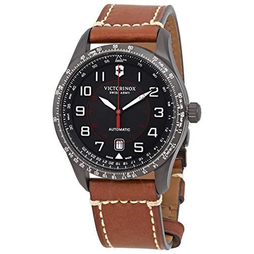 Victorinox Herren Airboss Mechanical - Swiss Made Automatic Edelstahl/Leder Uhr 241821