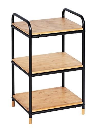 WENKO Estanteria con 3 repisas Loft, Estante para el baño, estante para el hogar, Bambú, 42 x 69 x 33.5 cm, Marrón