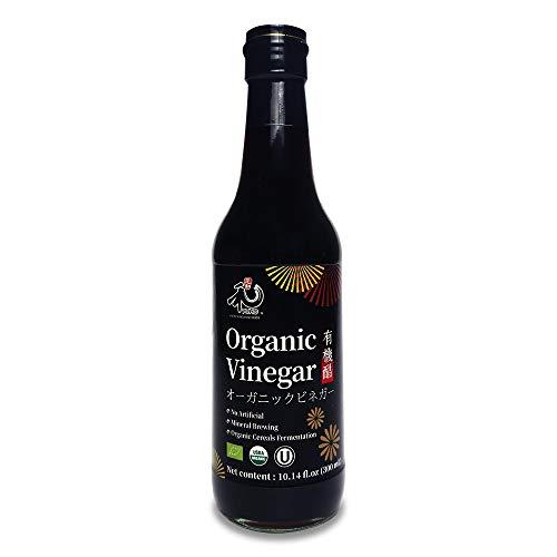 YUHO Organic Black Vinegar Organic Cereals Fermentation Vinegar USDA Organic, Kosher, No Artificial, Less Salt 10.14oz (300ml)