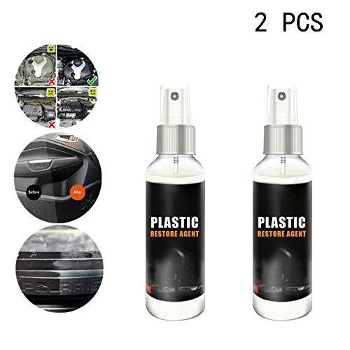 BPOOR Car Plastic Parts Care Retreading Agent Interior Maintenance Cleaner,Perfect for Auto Detailing & Restoration (2pcs)
