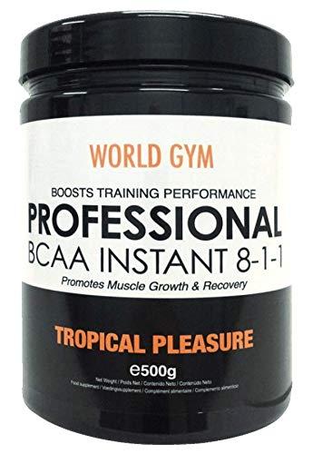 World Gym - AMINOÁCIDOS PROFESSIONAL BCAA INSTANT 8-1-1 - Frutas tropicales - 500 gr.