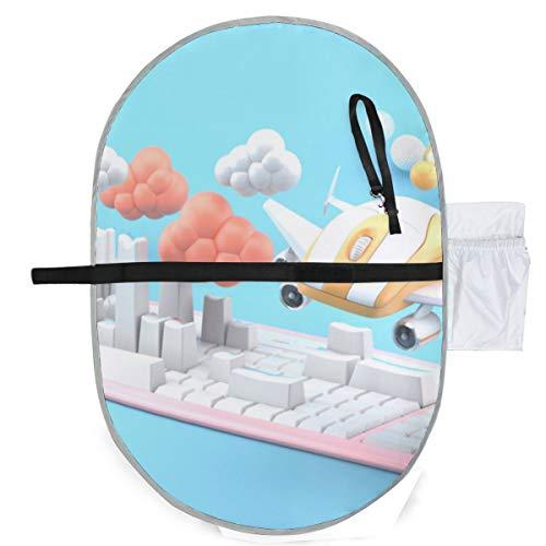Baby tragbare Pad wasserdichte faltbare Maus hat Flügel herumfliegen Tastatur Windelmatte Reisematte bequem hängen