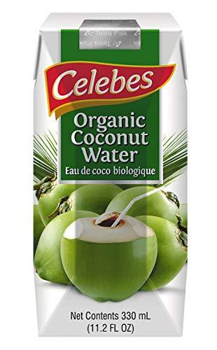 Celebes Agua de coco ecológica Caja de 12 unidades de 500ml.